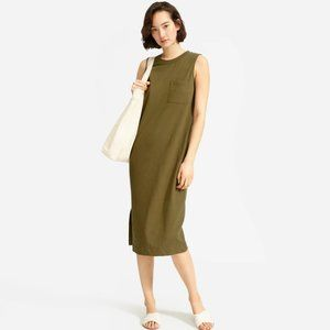 Everlane Long Weekend Tee Dress XS in fatigue